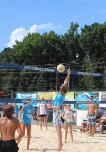 Growler Beach Volleyball Tournament- Junior League on the court