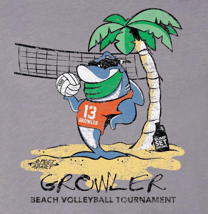 Growler Beach Volleyball Tournament 2020 Logo